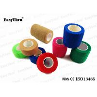 China Colorful Self Adhesive Elastic Bandage , Breathable Comfortable Medical Bandage Wrap on sale