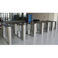 Buy cheap 304 / 316 stainless steel security smalles footprint slim lane flap barrier from wholesalers