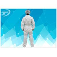 Fully CPE Film Breathable Disposable Coverall Suit / Disposable Plastic Body Suit Manufactures