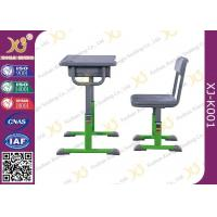 Buy cheap Hollow Polethylene Table Top Student Desk And Chair Set With Chinese Style Design from wholesalers