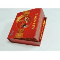 Magnetic Closure Gift Box Printing Coated Paper + Cloth / Silk W-O Binding Red Color Manufactures