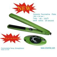 Vibrating Green Ceramic Salon Hair Straighteners Equipment For Long Hair Styling Manufactures