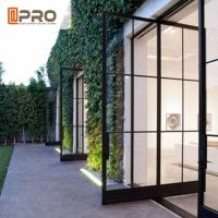 China Modern Tempered Glass Pivot Entry Door Thickness 1.4 / 1.6 /1 .8 / 2.0mm pivot door modern exterior pivot doors Entry on sale