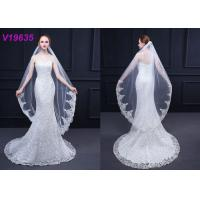 Modern Bridal Wedding Gown Accessories Veils 3 M With Hair Comb Sequins Technics Manufactures