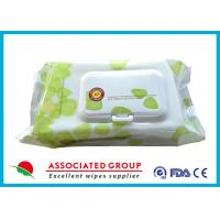 Plant Based Material Adult Wet Wipes Hypoallergenic Flushable Pre Moistened Cleansing Cloths Manufactures