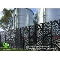 Powder Coated  Laser Cut Decorative Screens  3mm Metal   Patterned Facade Cladding Manufactures