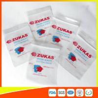 LDPE Clear Plastic Bags With Zipper Reclosable For Medical Cotton Swab Storage Manufactures