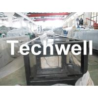 Steel 0.3mm - 0.6mm Mobile / Portable Gutter Roll Forming Machine for Rainwater Gutter Manufactures