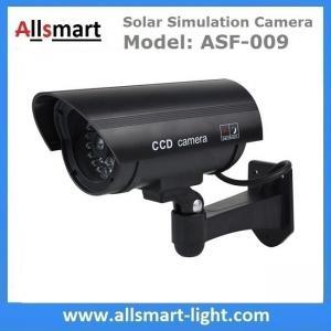 Black Dummy Solar Powered Simulation Camera Solar Fake Security Camera Surveillance CCTV Camera Replica Ball Solar Gun Manufactures