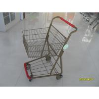 40L Folding Grocery Shopping Trolley Q195 Low Carbon Steel For Supermarket Manufactures