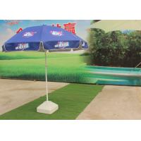 Promotional Outdoor Parasol Umbrella With Silver Coated Anti UV Fabric Manufactures