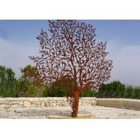 Laser Cut Outdoor Metal Tree Sculpture Corrosion Stability Customized Size Manufactures