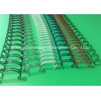 23 Loops Double Loop Wire , Spiral Nylon Coated Twin Loop Wire Manufactures