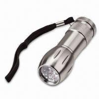 LED Aluminum Flashlight with 3 AAA Battery, Measures 35 x 28 x 97.5mm Manufactures