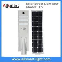 50W Solar Street Lights Aluminum All in One Solar LED Street Light Outdoor Radar Sensor Solar Lights for Driveway Manufactures