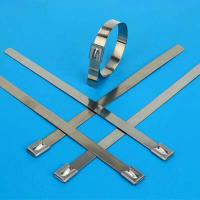 304 or 316 Stainless Steel Cable Ties Heavy Duty Anti-Corrosion Long Service Life Manufactures
