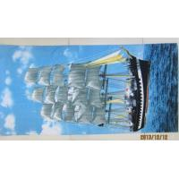 Buy cheap reactive dying 71*147cm customize printed beach towel  21s  TC from wholesalers