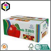 Colorful Printed Corrugated Packaging Box for Fruit; Fresh Apple Box Manufactures