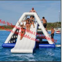 Giant Commercial Outdoor Inflatable Water Slide With A Pool For Parks Manufactures