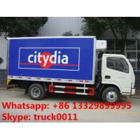 hot sale 2tons-3tons refrigerated truck for transported tuna, dongfeng reefer van truck for fresh seafood for sale Manufactures