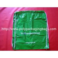 White Lightweight Plastic Drawstring Backpack Bags For Mobile Phone / Handphone Manufactures