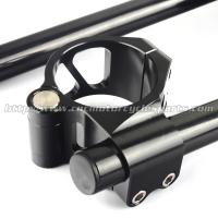 Quality 46mm Adjustable AluminumMotorcycle Clip On Handlebars ZX6R ZX9R ZRX 1100 1200 for sale