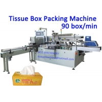 China 220V 100 Box / Min Tissue Paper Packaging Machine on sale