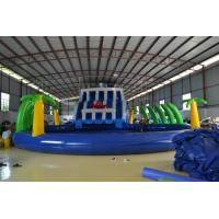 Durable 0.55mm PVC Tarpaulin Inflatable Sports Games , Giant Slide Manufactures