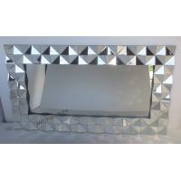 Diamond Frameless 3D Wall Mirror For Home Decorative 162 * 90cm Size Manufactures