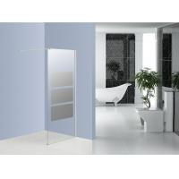 Bathroom Tempered Glass Walk In Shower Cubicles 1200MM WITH Fixable Bar Manufactures