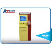 Ticketing Vending Touch Screen Bill Payment Kiosk Cash Acceptor With Printing Manufactures