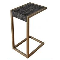 wooden top brass color stainless steel metal side table/End table/coffee table/C table, hotel furniture,casegoodsTA-0085 Manufactures