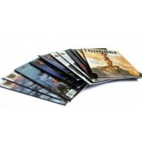 Quality OEM / ODM Printing Trade Magazines service of UV coated 4p, 250gsm matt Art Fancy paper for sale