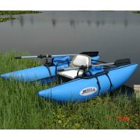 Kids Fireproof Inflatable Boat With Motor , Blue 4 Person Inflatable Boat Manufactures