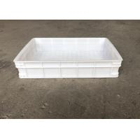 Heavy Duty Euro Stacking Containers White Food Plastic Trays For Freezing Fish Manufactures