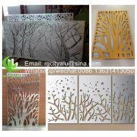 Tree Aluminum perforated sheet for facade cladding fence with 2mm thickness laser cutting Manufactures