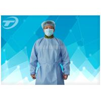 Quality Lightweight Surgical Disposable Isolation Gowns 3ply Fabric Blood Resistance for sale