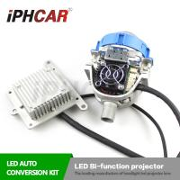 China IPHCAR Hid Headlight Coversion Kit Led Bi-Function Projector lens Led Lamp H1 H7 Auto Led Lens on sale