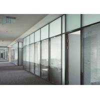 Quality Modern Aluminium Glass Partition , Double Glazed Office Partitions For Building for sale