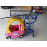 Supermarket Kids Shopping Carts , child size metal shopping cart 4 swivel flat TPE casters Manufactures