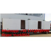 3 axles 45ft refrigerated van trailer for sale, factory sale refrigerator van body trailer, 45tons cold room semitrailer Manufactures