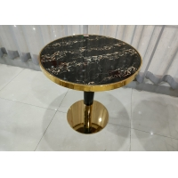 China Smooth Round 75cm 70cm Wrought Iron Glass Coffee Table on sale