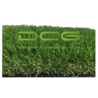 Olive Shape Waterproof Artificial Grass No Infill 30mm Height 2 Layers Backing Manufactures