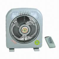 Oscillating Rechargeable Table Fan with Remote Control and LED Lights, Suit for Mobile/Car Charger Manufactures