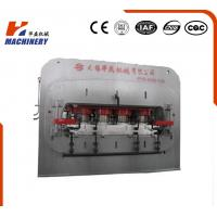 High Effciency Automatic Laminate Hot Press Machine Short Cycle For Laminated Flooring Manufactures