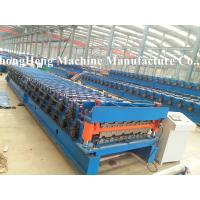 Two models roofing sheet roll forming machine with speed 10-15 m /min Manufactures