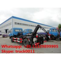dongfeng brand 4*2 LHD Cummins 190hp hook lifter garbage truck for sale, best price dongfeng wastes collecting vehicle Manufactures