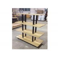 Many Layers Wood Shelf Retail Gondola Shelving , Middle Convenience Store Shelving Manufactures