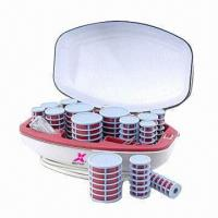 China Hair Curling Set with Charging Stand, Ceramic Rollers and Four Style Clips on sale