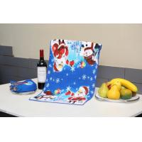 Superfine Fiber Christmas Tea Towels Reactive Printed With Square Shape Manufactures